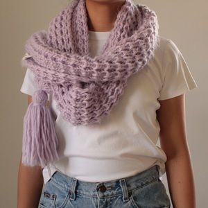 Universal Thread Lilac Purple Chunky Knit Scarf